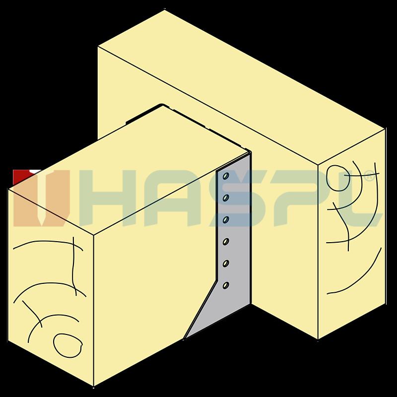 Trámová botka - tesařský třmen Typ2 100x120x2 mm žárový zinek