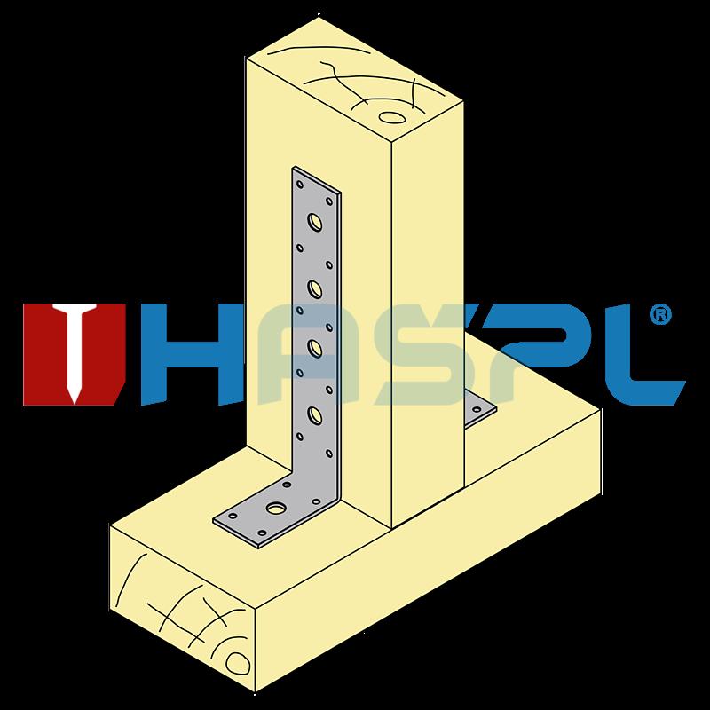 Tesařský úhelník 90° Typ3 160x40x60x3,0 mm žárový zinek